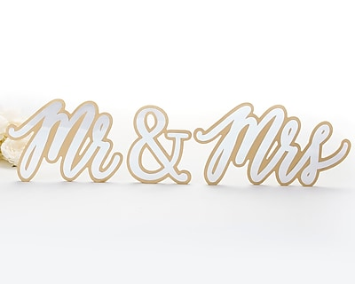 Kate Aspen Mr. & Mrs. Sweetheart Table Sign Set (Set of 2)
