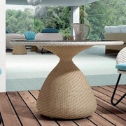 100 Essentials Circle Dining Table; Chocolate