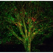 The Holiday Aisle Static Laser Projector; Red/Green