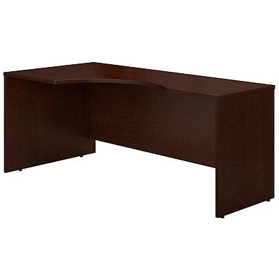 Bush Business Furniture Westfield 72W Left Handed Corner Desk, Mocha Cherry, Installed (WC12932FA)
