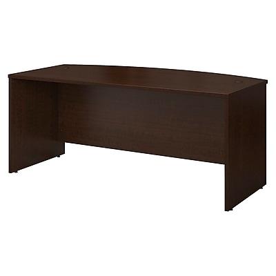 Bush Business Furniture Westfield 72W x 36D Bow Front Desk, Mocha Cherry, Installed (WC12946FA)