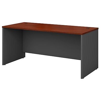Bush Business Westfield 66W Desk Shell, Hansen Cherry/Graphite Gray, Installed