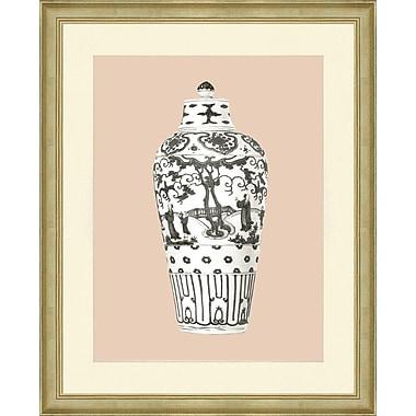 Smith & Co. Blush Vase Framed Giclee Print; 26'' H x 22'' W