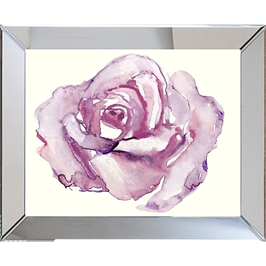 Smith & Co. Watercolor Rose Framed Giclee Print; 15'' H x 19'' W