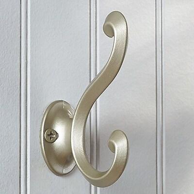 Richelieu Classic Metal Wall Hook; Matte Nickel