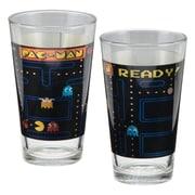Vandor Pac-Man 2 Piece 16 oz. Laser Decal Glass Set
