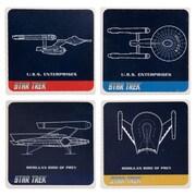Vandor Star Trek 4 Piece Ceramic Coaster Set