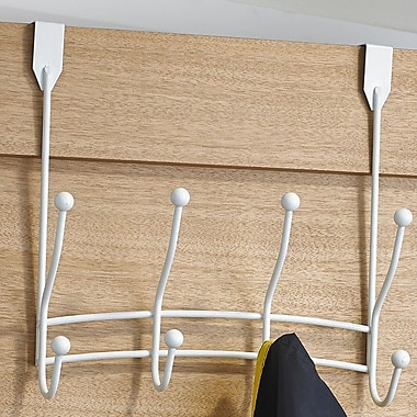 Richelieu Utility Wall Mounted Coat Rack; White