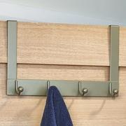 Richelieu Utility Wall Mounted Coat Rack; Matte Nickel