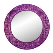 DecorShore Trend Shimmering Mermaid Glass Mosaic Tile Wall Mirror; Purple