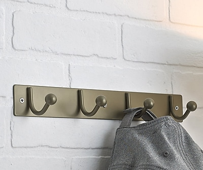 Richelieu Utility Wall Mounted Coat Rack; Matte Nickel