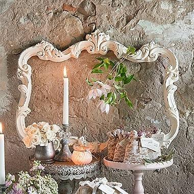Weddingstar Open Ornate Vintage Inspired Picture Frame; Antique White