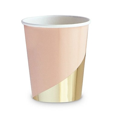 Weddingstar Colorblock Party Disposable Paper Cup (Set of 8)