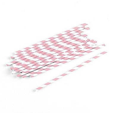 Weddingstar Sippers Candy Paper Straw (Set of 75); Pastel Pink