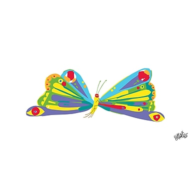 Marmont Hill 'Rainbow Butterfly' by Eric Carle Painting Print on Wrapped Canvas; 30'' H x 60'' W