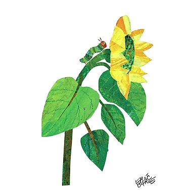 Marmont Hill 'Climbing Caterpillar' by Eric Carle Painting Print on Wrapped Canvas; 24'' H x 16'' W