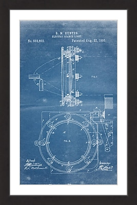 Marmont Hill 'Searchlight 1893 Blueprint' by Steve King Framed Painting Print