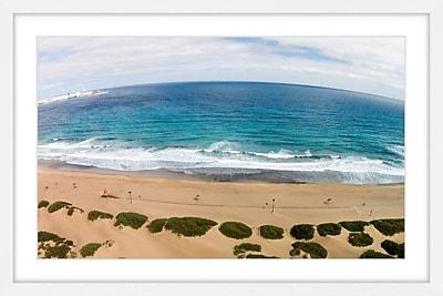 Marmont Hill 'Peaceful Beach' Framed Print; 12'' H x 18'' W