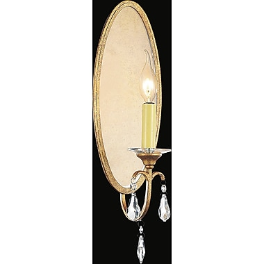 CrystalWorld Electra 1-Light Candle Sconce