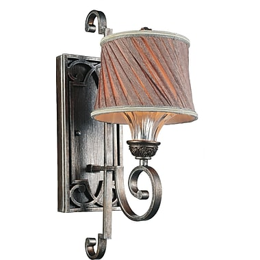 CrystalWorld Rogue 1-Light Armed Sconce