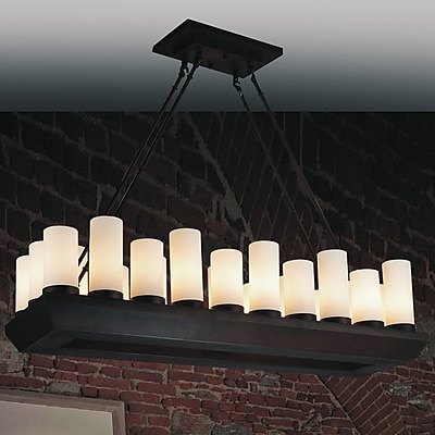 CrystalWorld Danielle 22-Light Kitchen Island Pendant