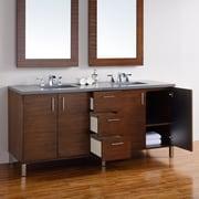 James Martin Furniture Metropolitan 72'' Double American Walnut Bathroom Vanity Set