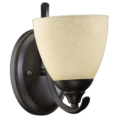 Home Concept Powell 1-Light Armed Sconces; Toasted Sienna