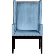 TOV Tribeca Wing back Chair; Blue