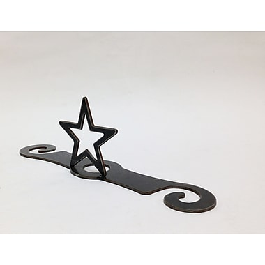 Metrotex Designs Laser Cut Star 2-Stem Bottle Topper; Natural Steel Lazcquered