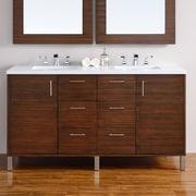 James Martin Furniture Metropolitan 60'' Double American Walnut Bathroom Vanity Set