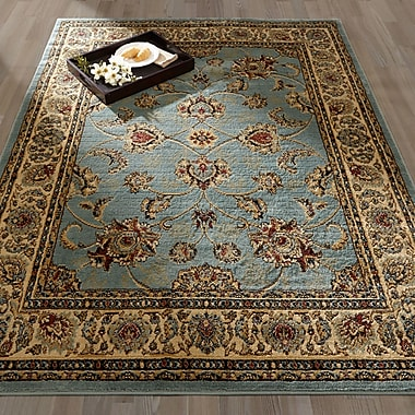 Ottomanson Royal Blue/Brown Area Rug; 5'3'' x 7'