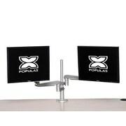 Populas Dual Monitor Arm Height Adjustable 2 Screen Desk Mount