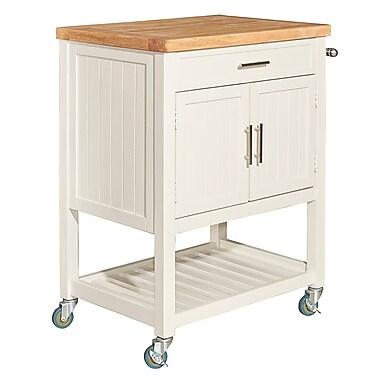 Highland Dunes Seepa Kitchen Cart; White