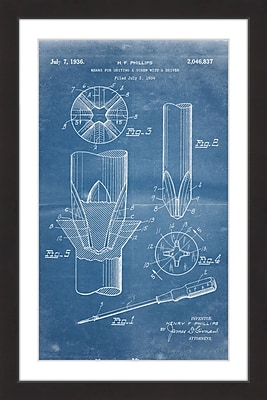 Marmont Hill 'Screwdriver 1936 Blueprint' by Steve King Framed Painting Print