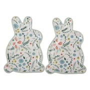 TAG Spring Floral Bunny Decorative Plate (Set of 2)