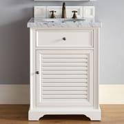 James Martin Furniture Savannah 26'' Single Bathroom Vanity Base; Cottage White