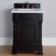 James Martin Furniture Brookfield 26'' Single Antique Black Bathroom Vanity Set