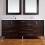 James Martin Furniture Metropolitan 72'' Double Macassar Ebony Bathroom Vanity Set