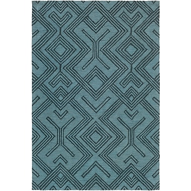 Artistic Weavers Congo Hill Hand-Tufted Light Blue/Navy Area Rug; 5' x 7'6''