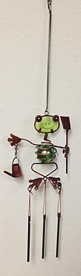 Continental Art Center Frog Wind Chime