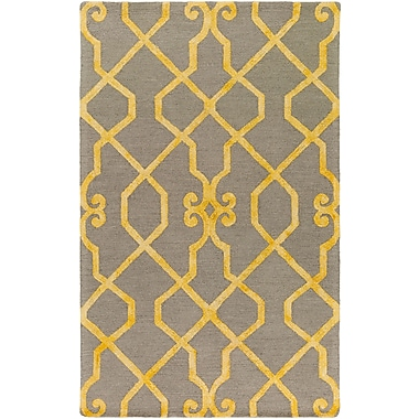 Artistic Weavers Organic Amanda Hand-Tufted Light Gray/Yellow Area Rug; 8' x 10'
