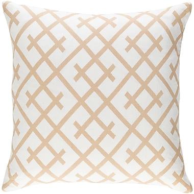 Artistic Weavers Ethiopia Kenya Pillow; White/Tan