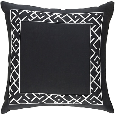 Artistic Weavers Ethiopia Rwanda Pillow; Black/White