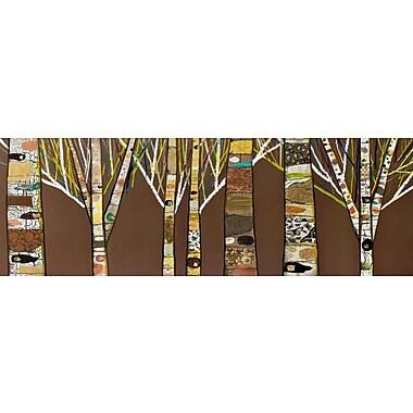 GreenBox Art 'Birch Tree Forest' by Eli Halpin Painting Print on Canvas; 24'' H x 72'' W x 1.5'' D