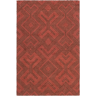 Artistic Weavers Congo Hill Hand-Tufted Red/Chocolate Area Rug; 7'6'' x 9'6''
