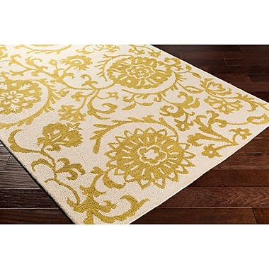 Artistic Weavers Rhodes Maggie Hand-Tufted Gold/Off-White Area Rug; 5' x 8'