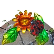 Continental Art Center Glass/Metal Lady Bug Tabletop Fountain