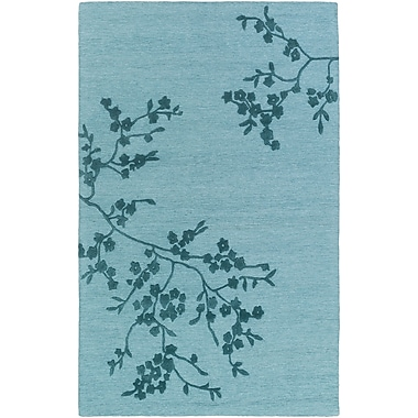 Artistic Weavers Alexander Smith Hand-Tufted Light Blue/Navy Area Rug; 5' x 8'