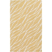 Artistic Weavers Arise Willa Hand-Tufted Gold/Ivory Area Rug; 5' x 8'