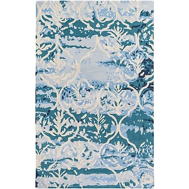 Artistic Weavers Pacific Holly Hand-Tufted Teal/Beige Area Rug; 5' x 8'